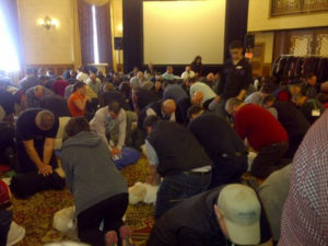 First aiders at work.